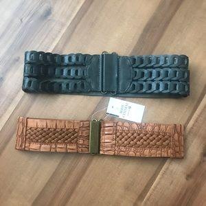 Buckle Waist Belts Set of 2